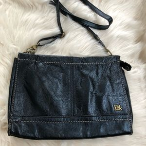 The Sak metallic sheen leather crossbody handbag